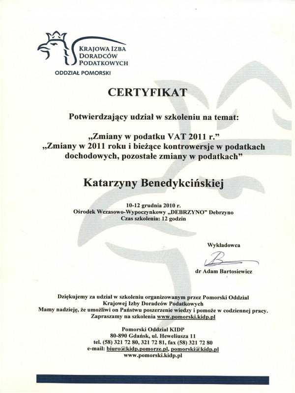 Zmiany w podatku VAT 2011 r.
